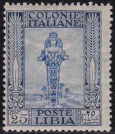 COLONIE ITALIANE LIBIA 1921 Pittorica 25c Dent.14 Filigrana Corona Gomma Integra , MNH** - Libye