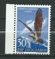 Yugoslavia 1954 Local Fauna.- Birds ( Gypaetus Barbatus Aureus ) MNH - Nuovi