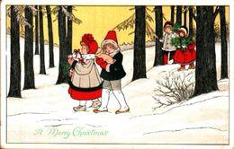 Attribuée à Pauli EBNER - A Merry Christmas, Enfants Neige Cochon - Ebner, Pauli