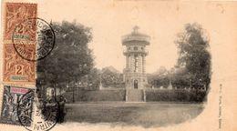 ASIE VIETNAM SAIGON LE CHATEAU D' EAU ANIMEE CARTE PRECURSEUR 1904 - Vietnam