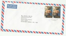 1993 Air Mail ZAMBIA COVER Stamps 2x 50k ROYALTY QUEEN ELIZABETH  To  GB - Zambie (1965-...)