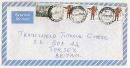 Air Mail ZAMBIA COVER Multi PTC POST ANNIV POST OFFICE GUN Stamps - Zambia (1965-...)
