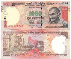 India - 1000 Rupees 2016 UNC Lemberg-Zp - India
