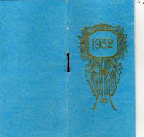 Carnet Calendrier 1932 - Petit Almanach Postal Et Télégraphique - Tarif Postal - Calendars