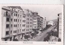 Carte Postale  :  Irun (Espagne)   Paseo De Colon    Ed   Arribas N° 7 - Spain