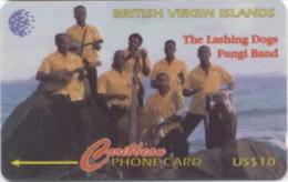 BVI : 171B $10 The Lashing Dogs Fungi Band USED - Virgin Islands