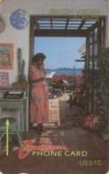 BVI : 016B EC$10 Woman On Telephone Spani USED - Virgin Islands
