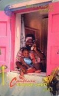 BVI : 015B EC$5  WOMAN AND CHILD SPA USED - Virgin Islands