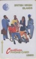BVI : 014B EC$20 SIX ON TELEPHONE Spanish USED - Virgin Islands