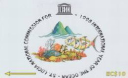 STLUCIA : 233B EC$10 UNESCO USED - Sainte Lucie