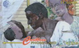 STLUCIA : 022B EC$20 Family Of St. Lucia USED - Sainte Lucie