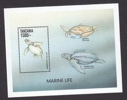 Tanzania, Scott #1854-1855, Mint Never Hinged, Marine Life, Issued 1999 - Tanzania (1964-...)