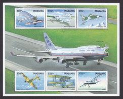 Tanzania, Scott #1865, Mint Never Hinged, Planes, Issued 1999 - Tanzania (1964-...)
