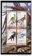 DINOSAURS,PREHISTORIC ANIMALS On SOUVENIR SHEET 4 STAMPS,CTO USED - Prehistorics