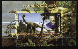 DINOSAURS,PREHISTORIC ANIMALS On SOUVENIR SHEET STAMP,CTO USED - Prehistorics