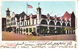 """SPOKANE'S    GREAT  RESTAURANT  """" DAVENPORTS """"  1906  To  B.C.  CANADA - Spokane"""