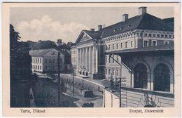 Estonia 1945 Tartu Dorpat Ulikool University Universitat - Estonia