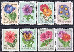 HUNGARY, 1968 FLOWERS 8 USED - Hungary