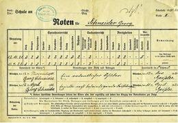 Noten Für Schuljahr 1921 / 1922  -  Simult. Schule München - Diploma & School Reports