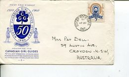 (77) Canada - FDC 1960 - Girls Guides (2 Covers) - Scoutismo