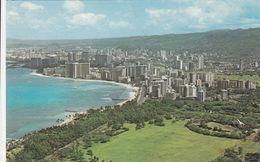 Cp , ÉTATS-UNIS , ISLAND Of OAHU , Panoramic View Of Waikiki Beach , Aerial View Above Beautiful Kapiolani Park - Oahu