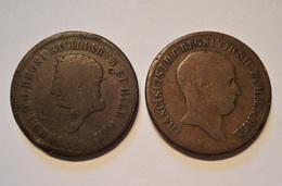 ITALIE. 2 X 10 DIECI TORNESI 1819, 1825. NAPLES. NAPOLI. ITALY. - …-1861 : Avant Réunification