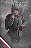 Feldpost WW1: Postcard Woman In Feldgrau From Reserve Infanterie Regiment 86 P/m 4.3.1917 - Postcard Signed France. Figh - Militaria