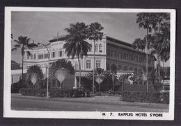 CPSM PHOTO ? SINGAPOUR - SINGAPORE - Raffles Hotel - TB PLAN Etablissement Automobiles - Singapore