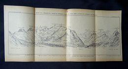 Antiguo Mapa Del Macizo De La Maladetta, Y El Valle De Venasque, (España, Huesca), Que Data De 1919. - Cartes Géographiques