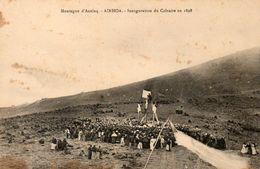 Montagne D Axulaq Inauguration Du Calvaire En 1898 Carte Tres Rare - Ainhoa