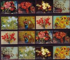 Bhutan 1970 Paintings - Textured & Printed On Card - Unusual - Bhoutan
