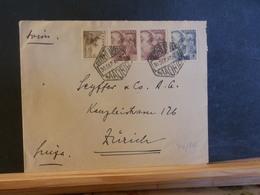 74/816  LETTRE ESPAGNE 1949 POUR LA SUISSE - 1931-Today: 2nd Rep - ... Juan Carlos I