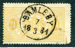 SWEDEN 1874 Samleby Official Stamp 24 öre Perforated 14, Used Scott O8 - Service
