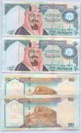 SAUDI ARABIA Special Edition 100 Years On The Creation Of The Kingdom 20 RIYALS 2 PCS Serial Numbers  UNC  (Shipping Is - Saudi Arabia