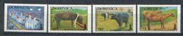 219 DOMINIQUE 1988 - Yvert 1031/34 - Poule Cochon Vache ... - Neuf **(MNH) Sans Charniere - Dominica (1978-...)