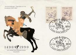 1990  MECHELEN Alte Brieftrager   Belgique Allemagne - [7] République Fédérale
