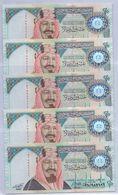 SAUDI ARABIA Special Edition 100 Years On Creation Of The Kingdom 20  RIYALS 5 PCS Serial Numbers UNC Shipping Is $ 7.77 - Saudi Arabia