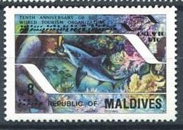 219 MALDIVES 1985 - Yvert 1018 - Faune Marine Dauphin - Neuf **(MNH) Sans Charniere - Maldives (1965-...)