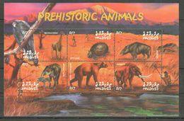 E480 MALDIVES FAUNA PREHISTORIC ANIMALS 1KB MNH - Prehistorics