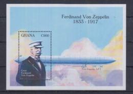 Y61. MNH Ghana Aviation  Ferdinand Von Zeppelin 1833-1917 - Zeppelins