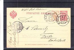 Russie - Lettonie - Carte Postale De 1905 - Oblit Riga - Exp Vers Trier - Cachet De Trier - 1857-1916 Imperium