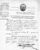 Général Divisionnaire AUGEREAU (Maréchal D'Empire En 1804) - Autographes