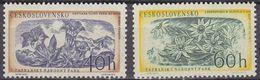 Czechoslovakia 1957 Tatra Nationalpark / Flowers 2v ** Mnh (37590a) - Ungebraucht