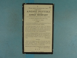 André Pottiez épx Sénépart Frasnes-lez-Buissenal 1842 Anvaing 1919 /16/ - Devotion Images