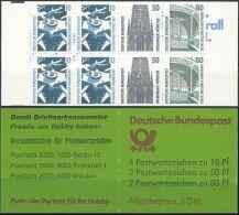 DEUTSCHLAND 1990 Mi-Nr. MH 25 Av Markenheft/booklet ** MNH - Carnets
