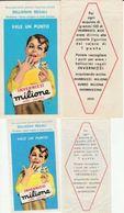 15926) INVERNIZZI MILIONE ALLA PANNA FIGURINA PROMOZIONALE 2 DIMENSIONI O VERSIONI LA GRANDE 52 X 103 Mm LA PICCOLA 42 X - Other Collections