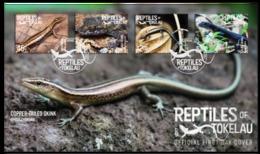 Tokelau 2017 FDC Reptiles Of Tokelau Lizard - Rettili & Anfibi