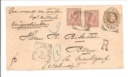 Aangetekend Weltevreden>Bern. Envelop G8 + NVPH 2x23 Hangend Haar - Niederländisch-Indien