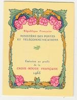 France Carnet Croix Rouge N° 2014** Année 1965 - Carnets