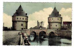 Belgique Flandre Occidentale Kortrijk Courtrai La Lys Et Le Pont Du Broel En 195? VOIR Flamme LIN - Kortrijk
